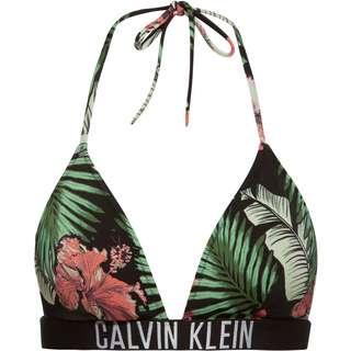 Calvin Klein Bikini Oberteil Damen tropical print black