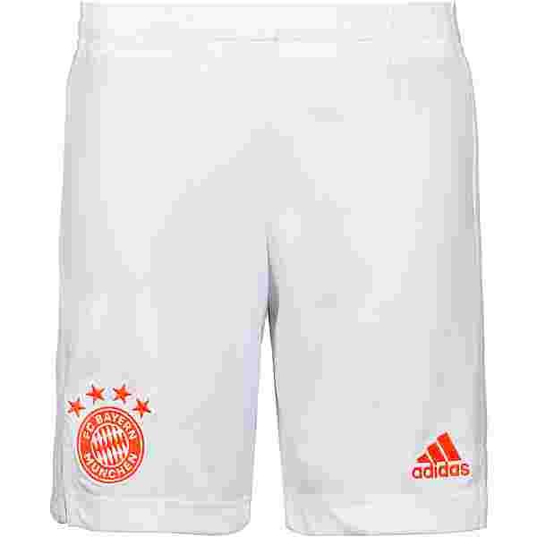 adidas FC Bayern 20-21 Auswärts Fußballshorts Kinder white