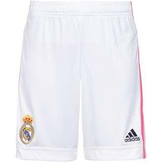 adidas Real Madrid 20-21 Heim Fußballshorts Kinder white
