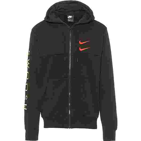 Nike NSW Swoosh Sweatjacke Herren black-ember glow