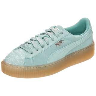 PUMA Suede Platform Pebble Sneaker Damen hellgrün