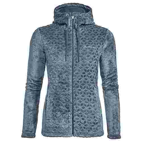 VAUDE Women's Skomer Soft Fleece Jacket Outdoorjacke Damen blue gray