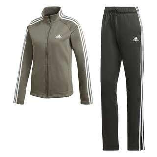 adidas Fleece Trainingsanzug Trainingsanzug Damen Legacy Green / Legend Earth