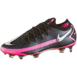 Nike PHANTOM GT ELITE FG Fußballschuhe Herren black-metallic silver-pink blast