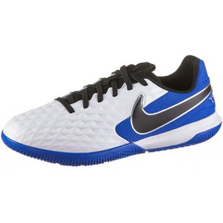 Nike Jr. Tiempo Legend 8 Academy IC Fußballschuhe Kinder white-black-hyper royal-metallic silver