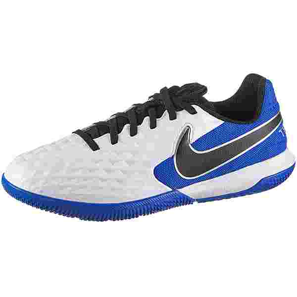 Nike Jr. Tiempo Legend 8 Academy IC Fußballschuhe Kinder white-black-hyper royal-metallic silver