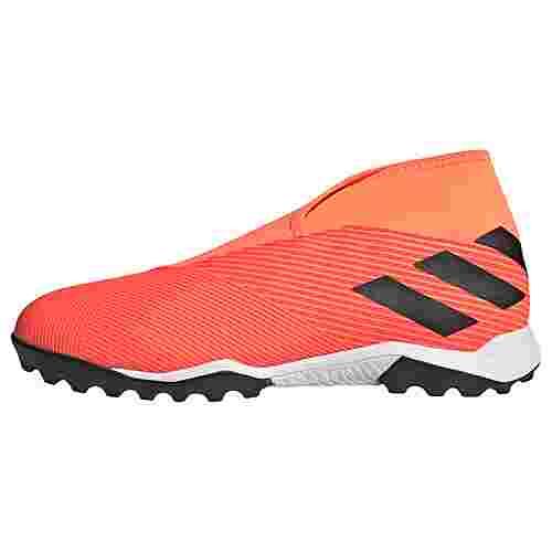 adidas Nemeziz 19.3 Laceless TF Fußballschuh Fußballschuhe Herren Signal Coral / Core Black / Solar Red