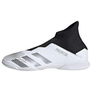 adidas Predator Mutator 20.3 IN Fußballschuh Fußballschuhe Kinder Cloud White / Silver Metallic / Core Black