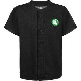 New Era NBA Denim Jersey Boston Celtics Kurzarmhemd Herren schwarz