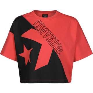 CONVERSE Linear Wordmark Boxy W T-Shirt Damen rot