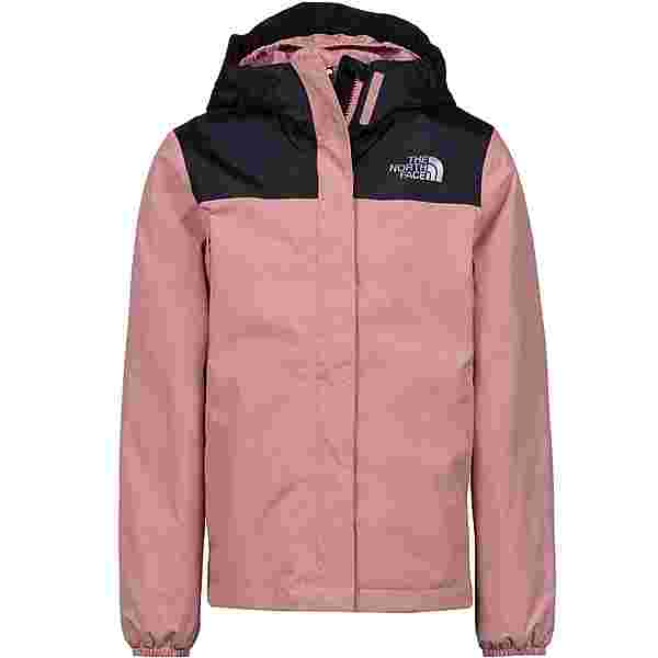 The North Face Resolve Regenjacke Kinder pink clay-tnf black