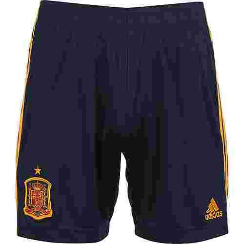 adidas FEF Spanien EM 2020 Heim Fußballshorts Herren dunkelblau / gelb