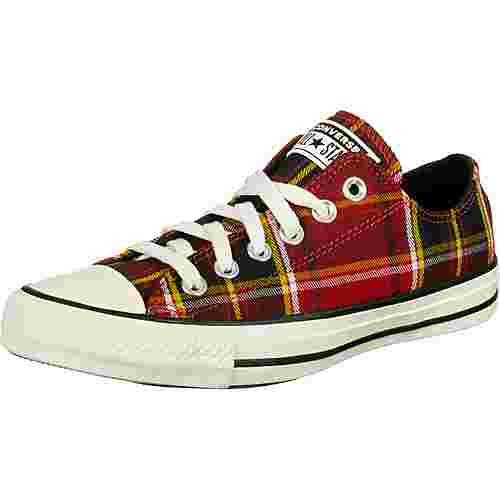 CONVERSE Chuck Taylor All Star OX Sneaker Damen rot/schwarz/kariert