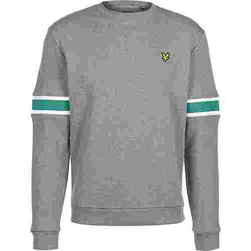 Lyle & Scott Sleeve Rib Insert Sweatshirt Herren grau/meliert
