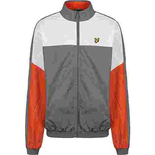 Lyle & Scott Multi Panel Trainingsjacke Herren grau/orange/weiß