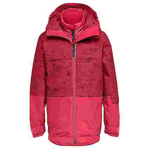 VAUDE Kids Snow Cup 3in1 Jacket AOP II Doppeljacke Kinder crocus