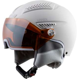 Uvex hlmt 600 visor Skihelm all white