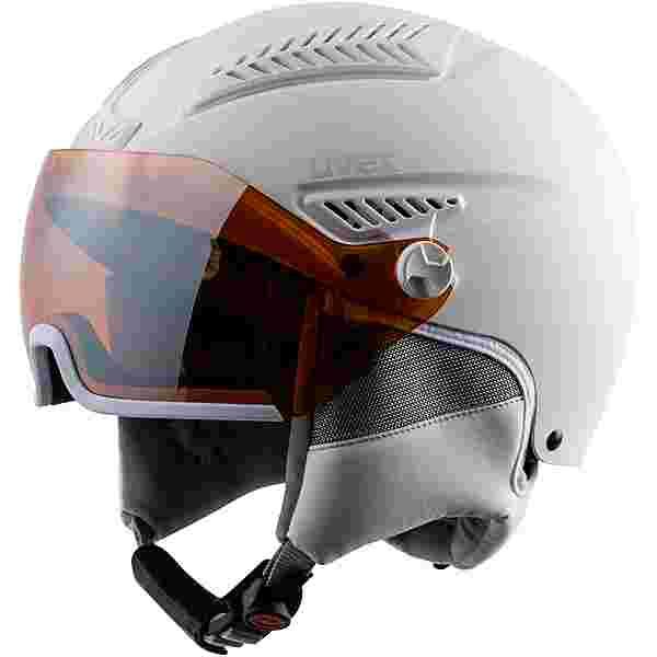 Uvex hlmt 600 visor Skihelm all white
