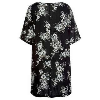 Lascana Longshirt Damen schwarz-bedruckt