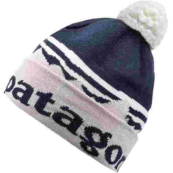 Patagonia Powder Town Bommelmütze fitz roy sunrise knit-phloxy purple