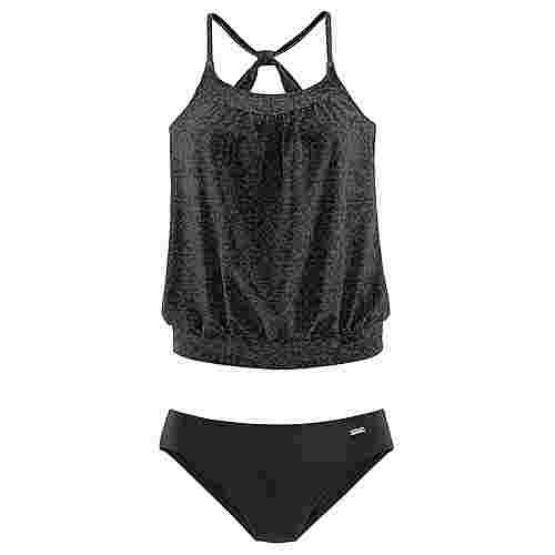 VENICE BEACH Bikini Set Damen schwarz-grau