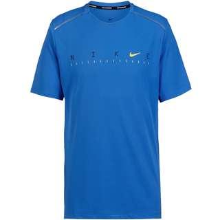 Nike Miller Future Fast Laufshirt Herren pacific blue-reflective silver