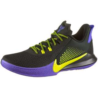 Nike Mamba Fury Basketballschuhe Herren black-lemon venom-psychic purple