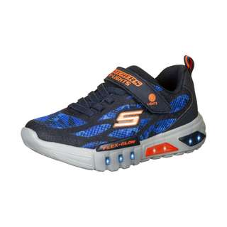 Skechers Flex-Glow Rondler Sneaker Kinder dunkelblau / orange
