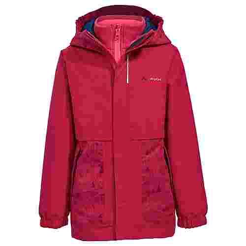 VAUDE Kids Campfire 3in1 Jacket Girls Doppeljacke Kinder crocus/pink
