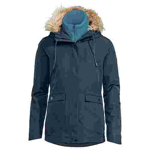 VAUDE Women's Kilia 3in1 Jacket II Doppeljacke Damen steelblue