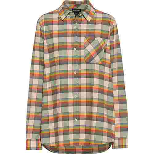 Burton Langarmhemd Damen creme brulee sunset plaid