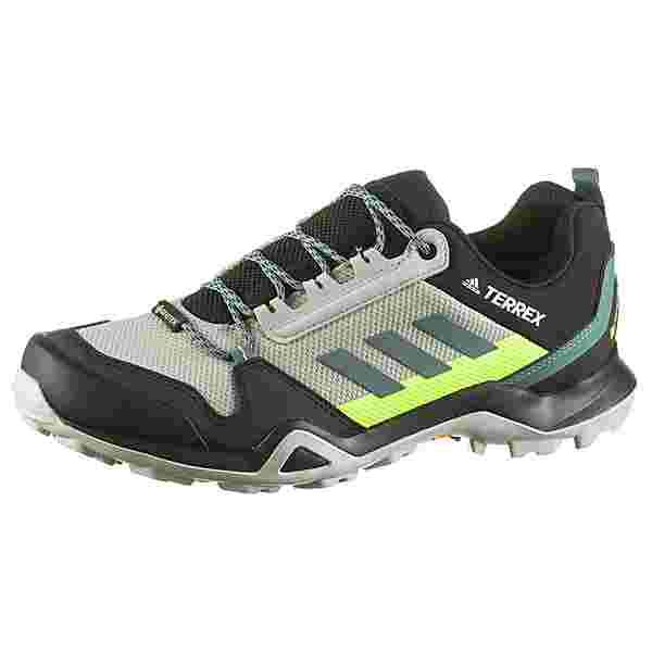 adidas GTX AX3 Wanderschuhe Herren grey two f17-tech emerald-signal green