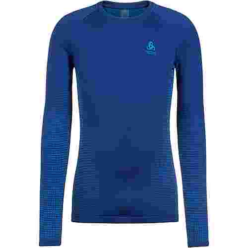 Odlo PERFORMANCE WARM ECO Funktionsshirt Herren estate blue atomic blue