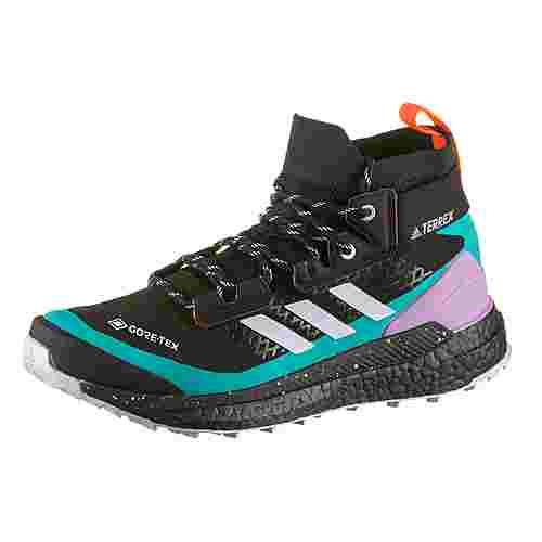 adidas GTX® Free Hiker Wanderschuhe Damen core black-purple tint-signal pink