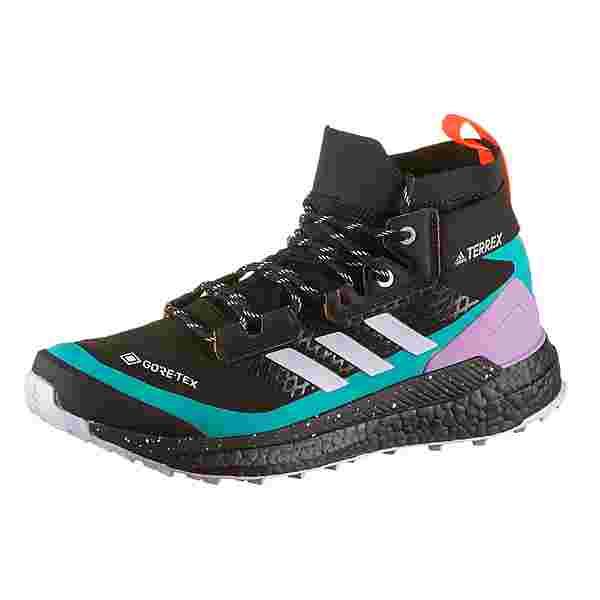 adidas GTX Free Hiker Wanderschuhe Damen core black-purple tint-signal pink