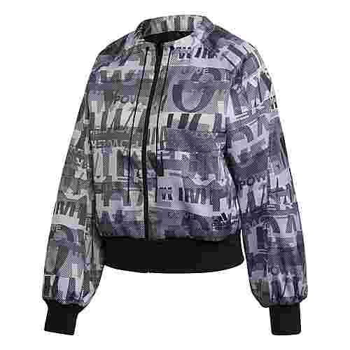 adidas Iteration Cover Up Jacke Funktionsjacke Damen Glory Grey / Black