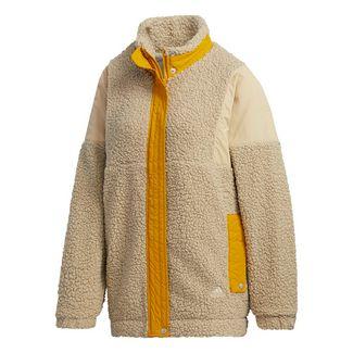adidas Three Stripes Sherpa Jacke Funktionsjacke Damen Beige