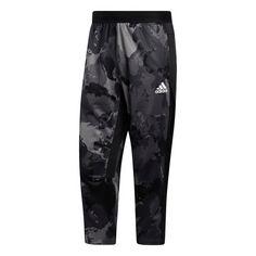 adidas Continent Camo City Cropped Hose Trainingshose Herren Grau