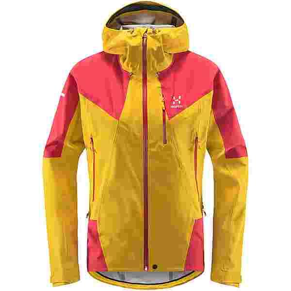 Haglöfs L.I.M Touring PROOF Jacket Hardshelljacke Damen Pumpkin Yellow/Hibiscus Red