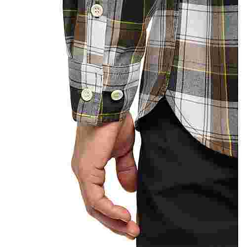 Haglöfs Tarn Flannell Shirt Outdoorhemd Herren Teak Brown/True Black