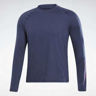 Reebok Thermowarm Touch Graphic Base Layer Top Langarmshirt Herren Blau