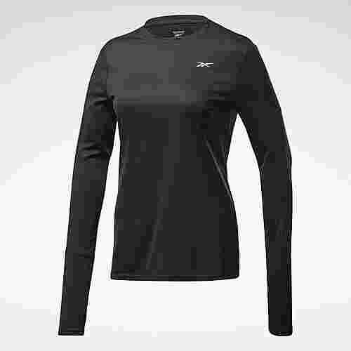 Reebok Running Essentials Long-Sleeve Shirt Laufshirt Damen Schwarz