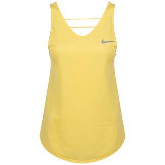 Nike Breathe Laufshirt Damen gold / silber