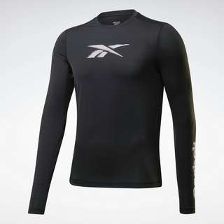 Reebok Run ACTIVCHILL Long-Sleeve Graphic Shirt T-Shirt Herren Schwarz