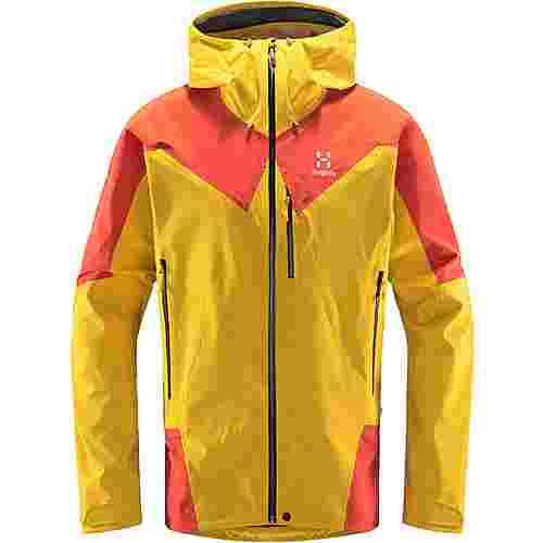 Haglöfs L.I.M Touring PROOF Jacket Hardshelljacke Herren Pumpkin Yellow/Habanero