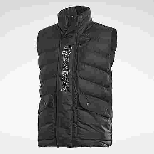 Reebok Outerwear Puffa Vest Outdoorweste Herren Schwarz