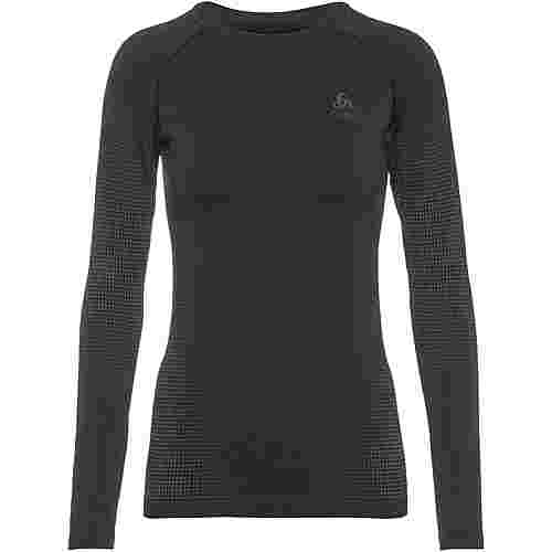 Odlo PERFORMANCE WARM ECO Funktionsshirt Damen black new odlo graphite grey