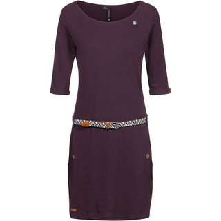 Ragwear Tanya Solid Jerseykleid Damen wine red