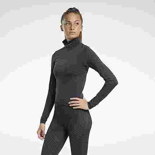 Reebok Seamless Long-Sleeve Shirt Funktionsshirt Damen Schwarz