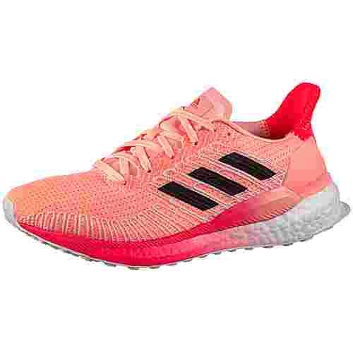 adidas SOLAR BOOST 19 W Laufschuhe Damen light flash orange-core black-signal pink